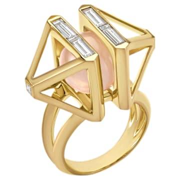 Double Diamond Cocktail Ring, Created Diamonds, 14K Yellow Gold, Size 52 - Swarovski, 5505375