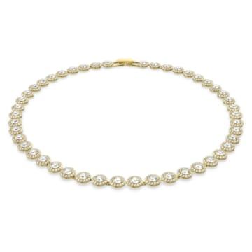 Collar Angelic, blanco, Baño en tono Oro - Swarovski, 5505468