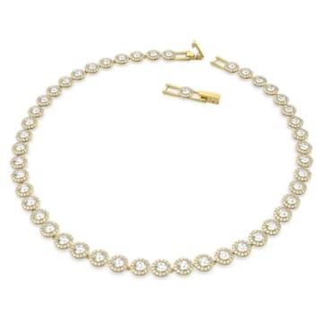 Colar Angelic, branco, banhado com tom dourado - Swarovski, 5505468