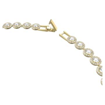 Angelic Halskette, Rund, Weiss, Goldlegierungsschicht - Swarovski, 5505468