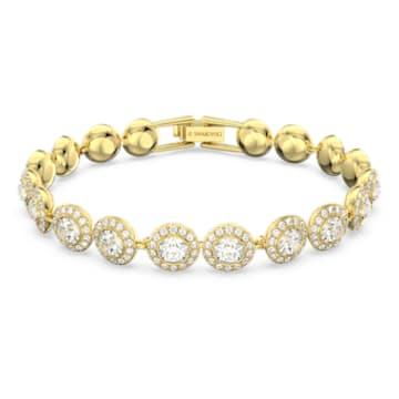 Bracelet Angelic, Rond, Blanc, Métal doré - Swarovski, 5505469