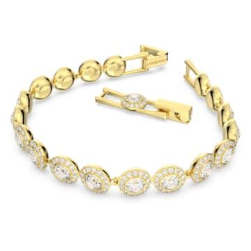 Angelic 手链, 圆形切割, 白色, 镀金色调 - Swarovski, 5505469