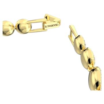 Brățară Angelic, albă, placată în nuanță aurie - Swarovski, 5505469