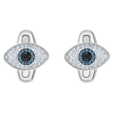 Unisex Evil Eye Cufflinks, Multi-coloured, Stainless steel - Swarovski, 5506081
