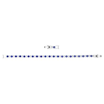 Bracelet Tennis Deluxe, bleu, métal rhodié - Swarovski, 5506253