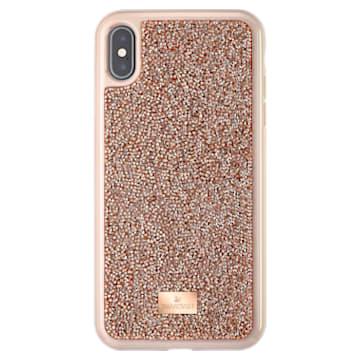 Glam Rock Smartphone 套, iPhone® XS Max, 玫瑰金色调 - Swarovski, 5506307