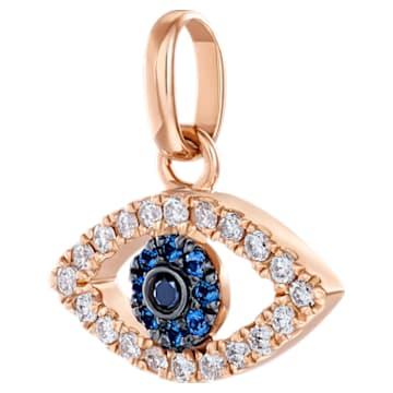 护佑之眼18K玫瑰金蓝宝石钻石链坠 - Swarovski, 5506534