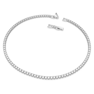 Parure Tennis Deluxe, Rond, Blanc, Métal rhodié - Swarovski, 5506861