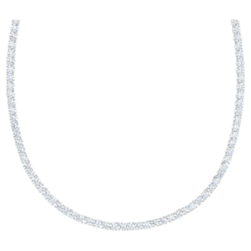 Tennis Deluxe Set, White, Rhodium plated - Swarovski, 5506861
