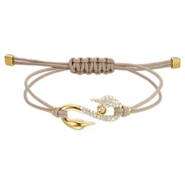 Braccialetto Swarovski Power Collection Hook, medio, Beige, Placcato color oro - Swarovski, 5508527
