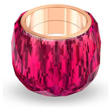 Anel Swarovski Nirvana, vermelho, PVD rosa dourado - Swarovski, 5508718