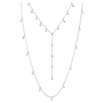 Moonsun Necklace, Long, White, Rhodium plated - Swarovski, 5509171