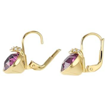 Bella V Ohrringe, Violett, Goldlegierungsschicht - Swarovski, 5509404