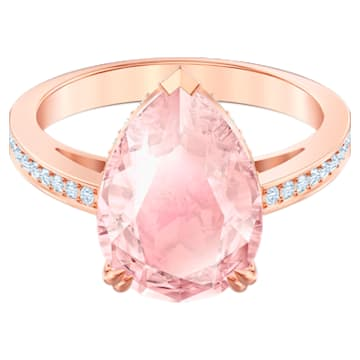 Vintage Cocktail Ring, Pink, Rose-gold tone plated - Swarovski, 5509684