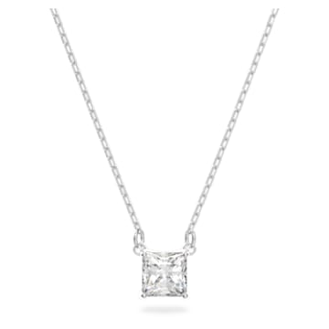 Attract 项链, 白色, 镀铑 - Swarovski, 5510696