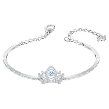 Bee A Queen Bangle, Blue, Rhodium plated - Swarovski, 5510987
