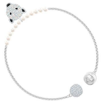 Bracelet Polar Bestiary, blanc, Métal rhodié - Swarovski, 5511100