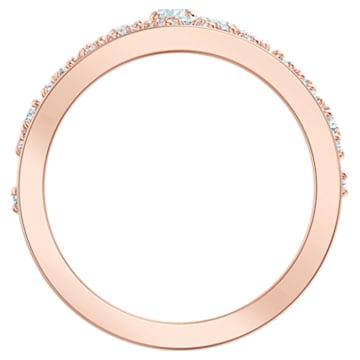 Anillo con motivo Precisely, blanco, Baño en tono Oro Rosa - Swarovski, 5511398