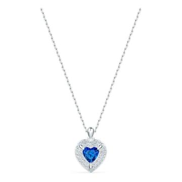 One Pendant, Blue, Rhodium plated - Swarovski, 5511541