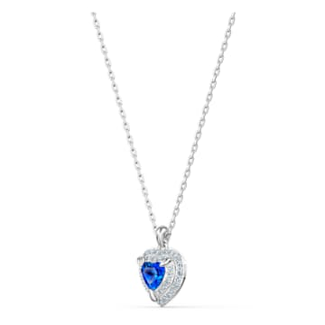 One蓝色仿水晶心形项链吊坠- Swarovski, 5511541