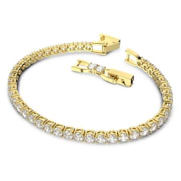 Tennis Deluxe 手链, 白色, 镀金色调 - Swarovski, 5511544