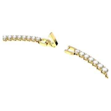 Tennis Deluxe Halskette, Rund, Weiss, Goldlegierungsschicht - Swarovski, 5511545
