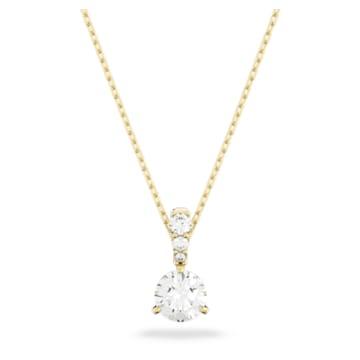 Solitaire 鏈墜, 白色, 鍍金色色調 - Swarovski, 5511557