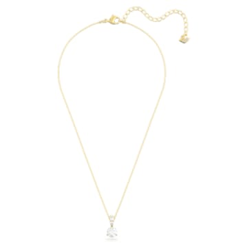 Pendente Solitaire, Bianco, Placcato color oro - Swarovski, 5511557