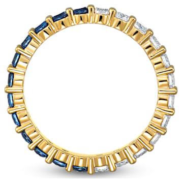 Bague Vittore Half XL, bleu, métal doré - Swarovski, 5511562