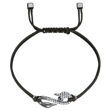 Swarovski Power Collection Hook Armband, mittel, Grau, Rutheniert - Swarovski, 5511777