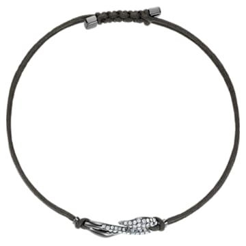 Swarovski Power Collection Hook bracelet, Medium, Gray, Ruthenium plated - Swarovski, 5511777