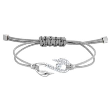 Swarovski Power Collection Hook Armband, grau, Rhodiniert - Swarovski, 5511778