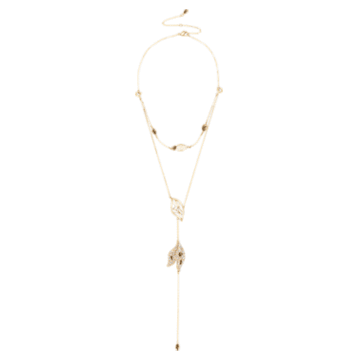 Collier détachable Graceful Bloom, marron, Métal doré - Swarovski, 5511808