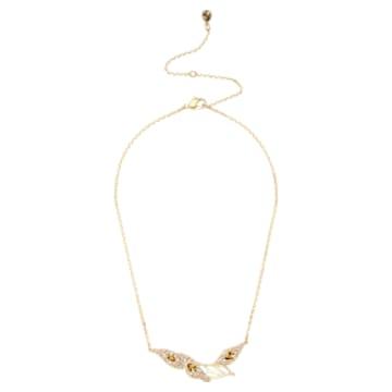 Graceful Bloom Halskette, braun, Vergoldet - Swarovski, 5511820