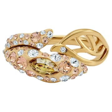 Anello Graceful Bloom, marrone, Placcato oro - Swarovski, 5511821