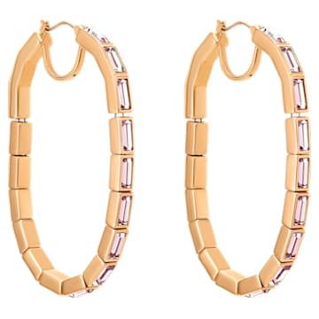 Fluid 穿孔耳环, 紫罗兰, 镀玫瑰金色调 - Swarovski, 5512003