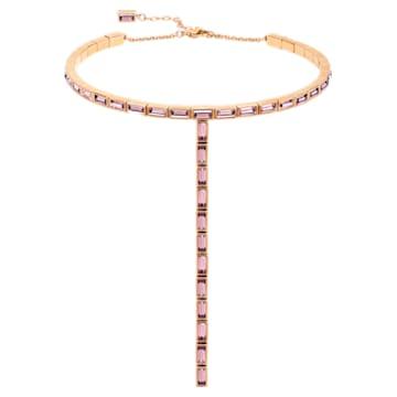 Fluid 項鏈, 紫羅蘭, 鍍玫瑰金色調 - Swarovski, 5512013