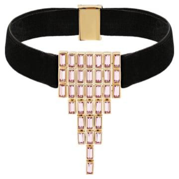 Fluid Velvet 頸鍊, 紫羅蘭, 鍍玫瑰金色調 - Swarovski, 5512016