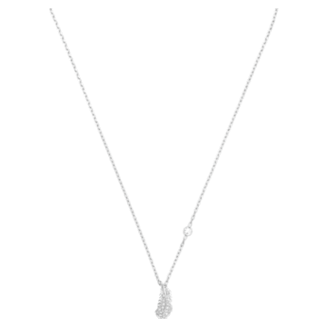 Naughty 项链, 白色, 镀铑 - Swarovski, 5512365