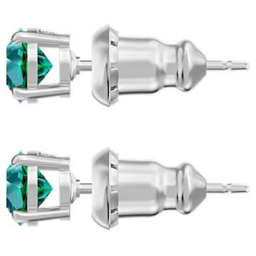 Attract 耳钉, 绿色, 镀铑 - Swarovski, 5512384