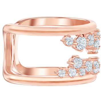 Pierścionek North, biały, w odcieniu różowego złota - Swarovski, 5512431
