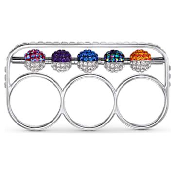 Spectacular gyűrű, többszínű, sötét, ródium bevonattal,55 - Swarovski, 5512466