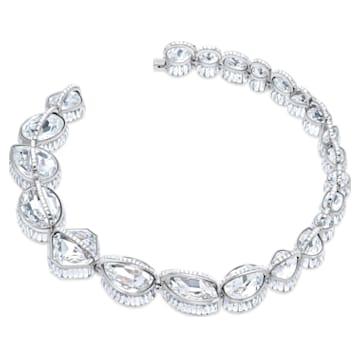 Spectrum Shine Necklace, White, Rhodium plated - Swarovski, 5512467