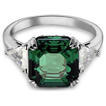 Attract Cocktail 戒指, 綠色, 鍍銠 - Swarovski, 5512574