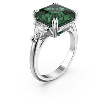 Pierścionek koktajlowy Attract, zielony, powlekany rodem - Swarovski, 5512574