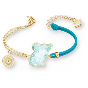 Chinese Zodiac Rat 手鏈, 海藍色, 鍍金色色調 - Swarovski, 5512645