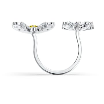 Anel Eternal Flower Open, amarelo, acabamento em vários metais - Swarovski, 5512656