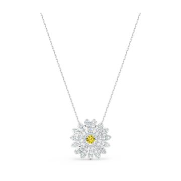 Pendentif Eternal Flower, jaune, métal rhodié - Swarovski, 5512660