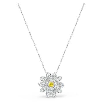 Eternal Flower Подвеска, Желтый Кристалл, Отделка из разных металлов - Swarovski, 5512662