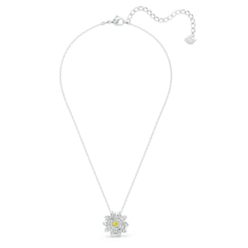 Pandantiv Eternal Flower, galben, finisaj metalic mixt - Swarovski, 5512662